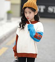 Стильний пуловер для дівчаток / Свитер для девочек, осенне-зимний детский вязаный пуловер, одежда для девочек