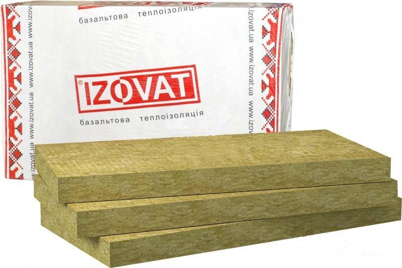 Базальтовый утеплитель  Izovat 125 1000х600х100мм (1.2м2)