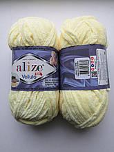Пряжа Alize Веллуто Velluto (Ализе)  цвет 13 желтый