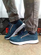 Комфортні літні кросівки сині з нубука Detta