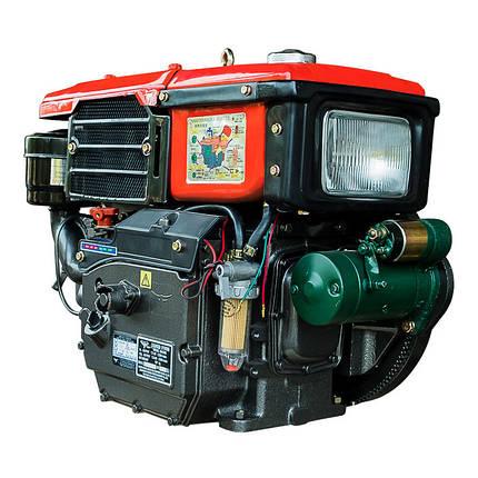 Двигатель дизельный Кентавр ДД190ВЭ (10,5 л.с., электростарт,  водяное охлаждение), фото 2