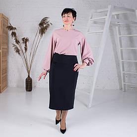 Женская юбка больших размеров Есения синяя