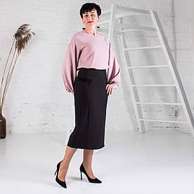 Женская юбка больших размеров Есения черная