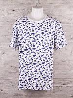 Чоловіча трикотажна футболка Пальми розмір батальний 50-54, колір міксом, фото 1