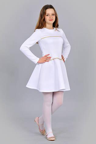 d8b8c0e1993d Детское эффектное праздничное белое трикотажное платье недорого., фото 2