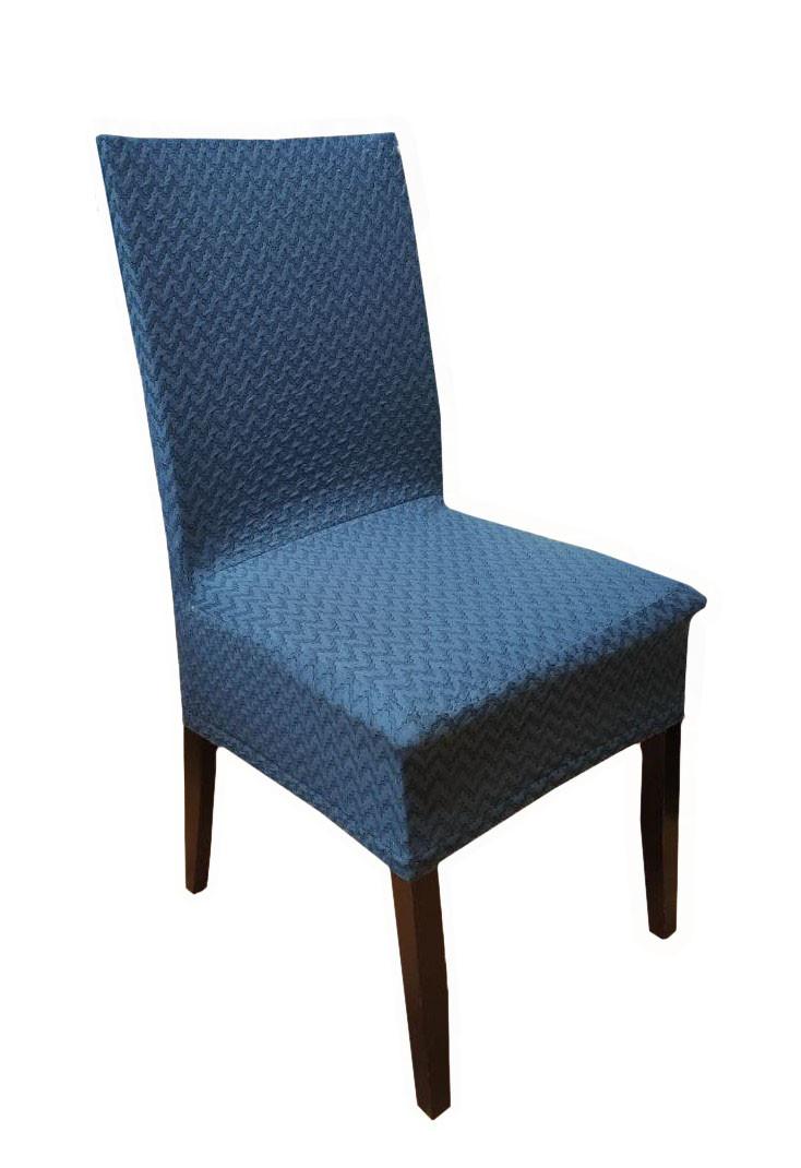 Чохли на стільці Зигзаг синій