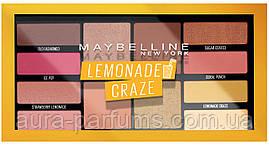 Палетка теней на 12 оттенков Maybelline Lemonade Craze Palette