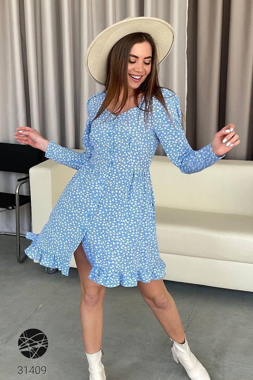 Сукня-сорочка з квітковим принтом  софт-шовк, р.42-44, 46-48, п'ять кольорів