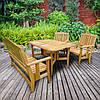 Садовая деревянная мебель серии Компакт