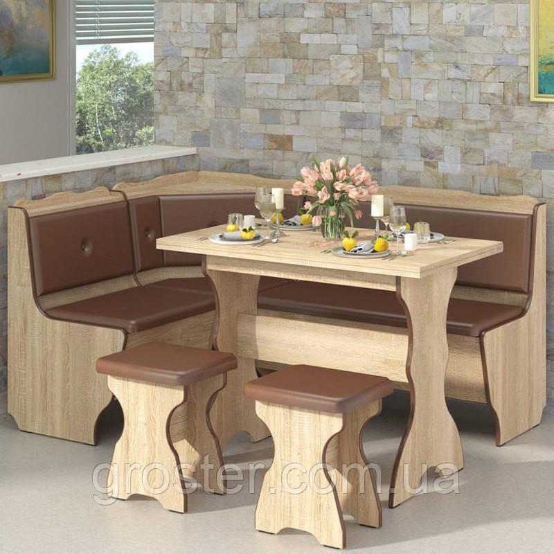 Кухонний куток Президент з розкладним столом та двома табуретами