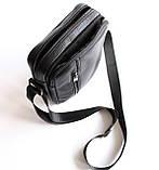 Чоловіча чорна сумка-месенджер, фото 6