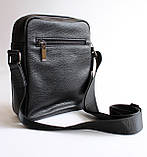 Чоловіча чорна сумка-месенджер, фото 3