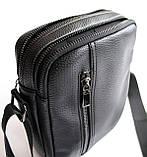 Чоловіча чорна сумка-месенджер, фото 5