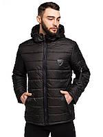 Демисезонная мужская куртка с капюшоном размеры 48-58