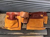 Кожаный пояс для инструментов ATEX 11 карманов, 2 скобы 79R405