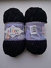 Пряжа Alize Веллуто Velluto (Ализе)  цвет 60 черный
