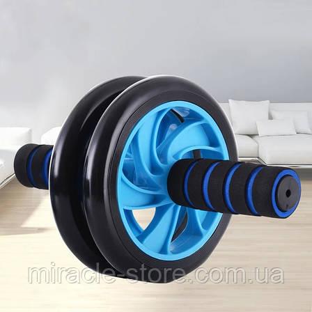 Фитнес колесо Double wheel колесо для пресса ролик для пресса двойное тренажер, фото 2