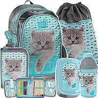 Комплект набор школьный рюкзак PASO STUDIO PETS 5 элементов