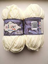 Пряжа Alize Веллуто Velluto (Ализе)  цвет 62 молочный