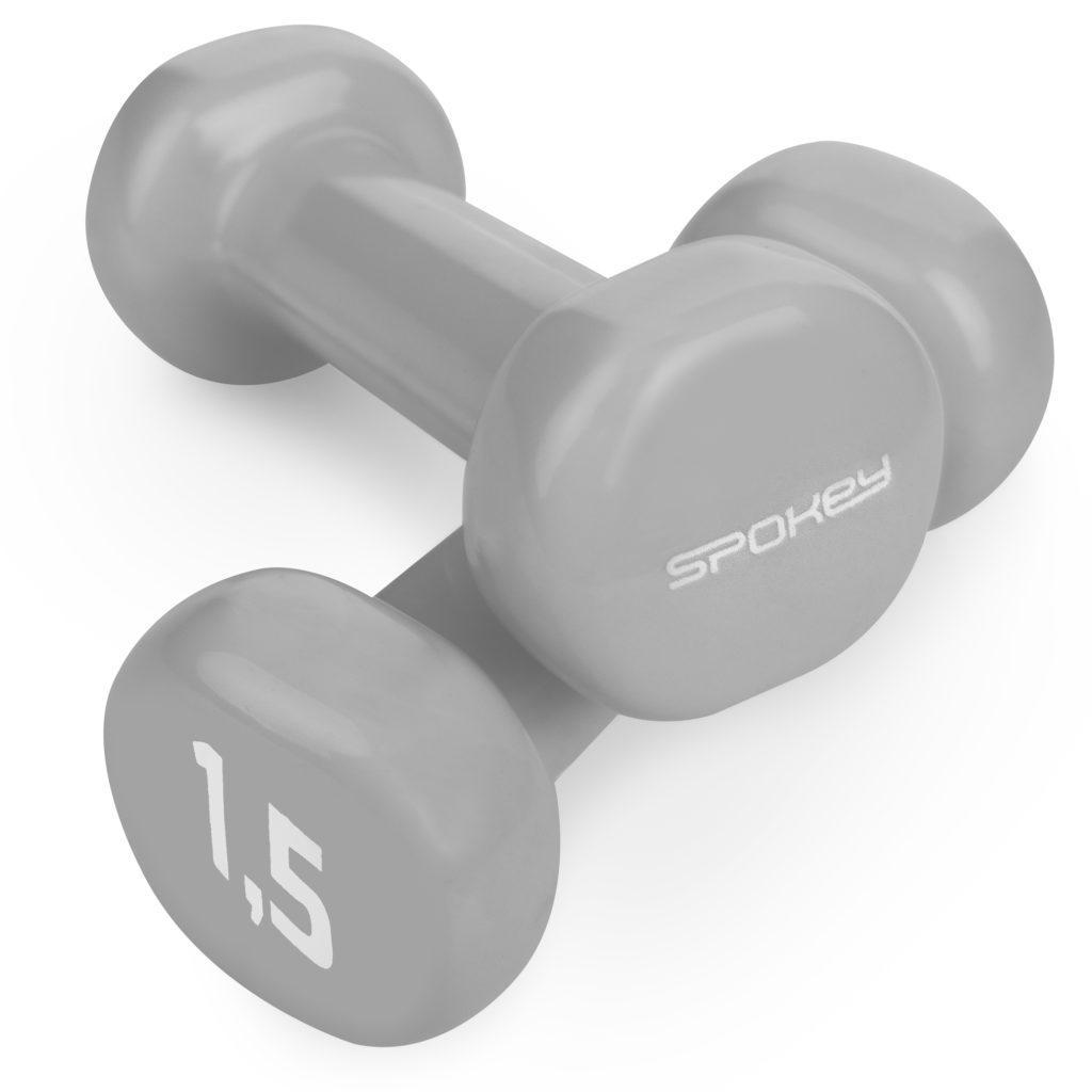Гантели для фитнеса 2х1,5 кг Spokey SHAPE IV 921562 (original) виниловое покрытие