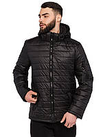Модная демисезонная мужская куртка с капюшоном размеры 48-58