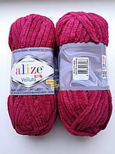 Пряжа Alize Веллуто Velluto (Ализе)  цвет 107 вишневый