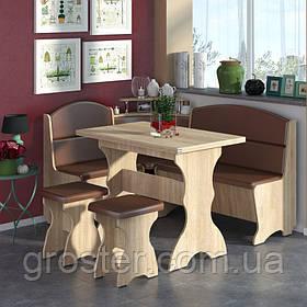 Кухонный уголок Сенатор с раскладным столом и 2 табурета