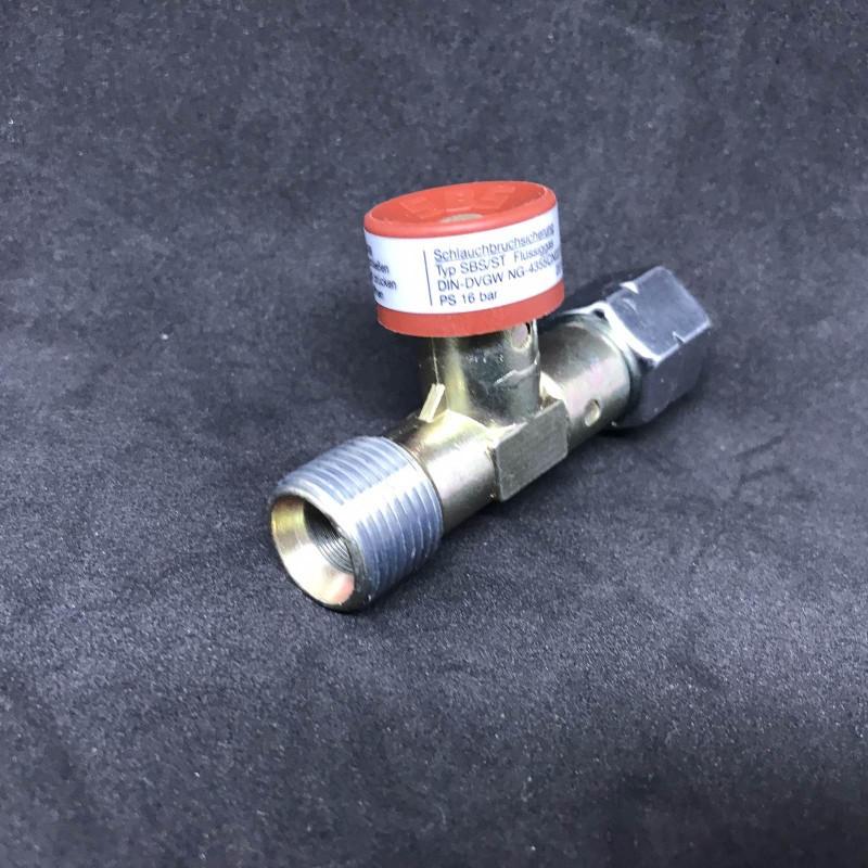 Запобіжний пристрій при прориві шлангу GOK 1.5 бар 3кг/рік G3/8LH UEM*G3/8LN-KN ручн.