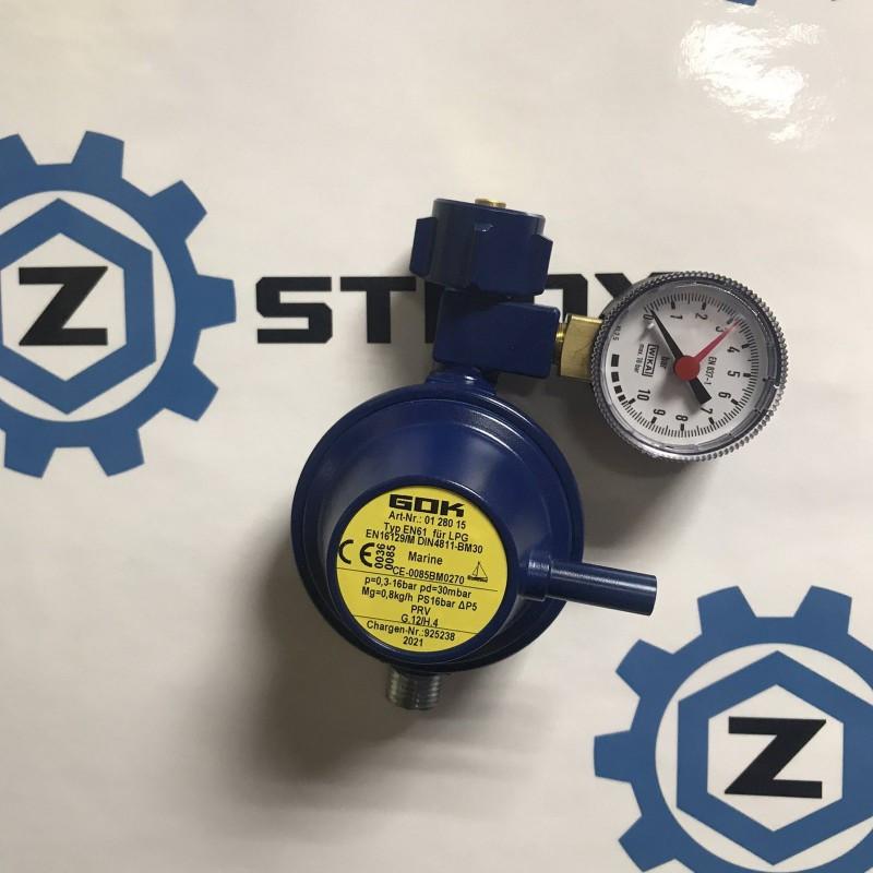 Газовий регулятор GOK EN61 0,8 кг/рік 30 mbar KLFxG1/4LH-KN