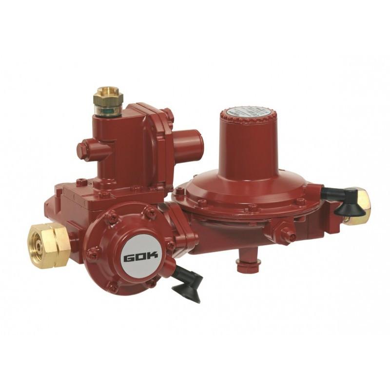 Регулятор низького тиску GOK FL92 12кг/рік 37 мбар з ЗЗК та ЗСК GF * RVS 15мм