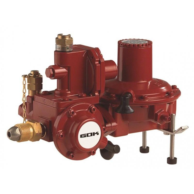 Регулятор тиску газу з ЗЗК та ЗСК POL * RVS 18мм 50 мбар 12 кг/рік