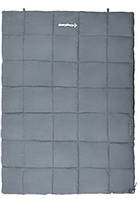 Удобный спальный мешок для двоих KingCamp ACTIVE 250 DOUBLE(KS3189) / 5°C, R Grey 93963 серый