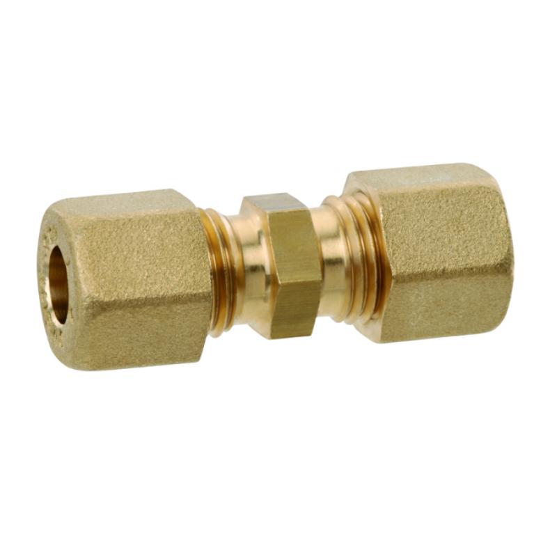 Газовий латунний адаптер прямий RVS8 * RVS8 для зєднання труби діаметром 8мм