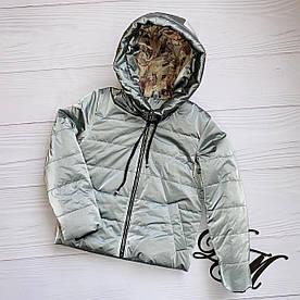 """Куртка демисезонная для девочки """"Камила"""" серая 116"""