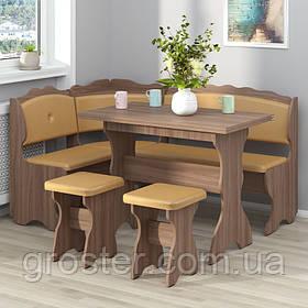 Кухонный уголок Цезарь с раскладным столом и двумя табуретами
