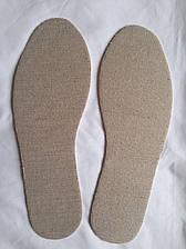 Стельки комбинированные лен + обувной картон (кожкартон)