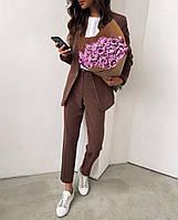 Женский яркий брючный костюм костюм-двойка в расцветках (Норма), фото 8