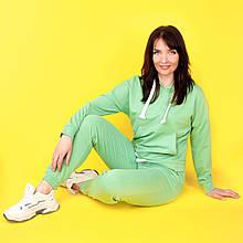 Костюм спортивний жіночий, худі і штани WAFA S-L зелений