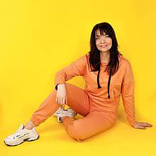 Костюм спортивний жіночий, худі і штани WAFA S-L помаранчевий
