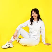 Костюм спортивный женский, худи и штаны WAFA S-L белый