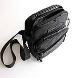 Чоловіча чорна сумка-месенджер, фото 2