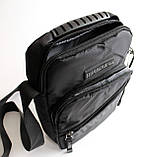 Чоловіча чорна сумка-месенджер, фото 4