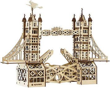 """Іграшка механічна дерев'яна 3D-модель """"Тауерський міст"""" №10401/ПлейВуд/"""
