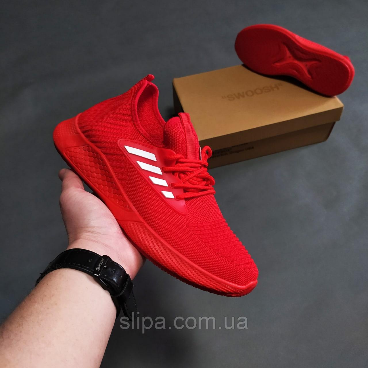 Красные летние текстильные кроссовки мужские