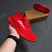Красные летние текстильные кроссовки мужские, фото 1