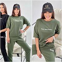 Летний спортивный костюм женский хаки КС/-4461