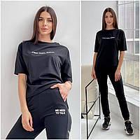 Летний спортивный костюм женский черный КС/-4461