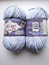 Пряжа Alize Веллуто Velluto (Ализе)  цвет 416 серый