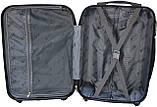 Валіза пластикова на 4х колесах мала S темно-синя   23х55х37 см   3.150 кг   35 л   FLY 91240, фото 10