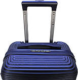 Валіза пластикова на 4х колесах мала S темно-синя   23х55х37 см   3.150 кг   35 л   FLY 91240, фото 6
